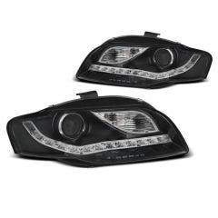 Audi A4 B7 04-08 LED indicator Black LED koplamp units