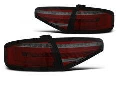 Audi A4 B8 Sedan LED achterlicht units, dynamisch knipperlicht Red Smoke