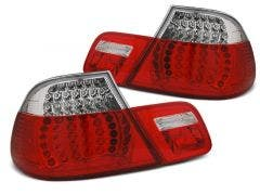BMW E46 Coupe LED achterlicht units, dynamisch knipperlicht Red White