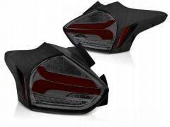 Ford Focus 3 LED achterlicht units, dynamisch knipperlicht Black Smoke