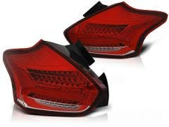 Ford Focus 3 LED achterlicht units, dynamisch knipperlicht Red White Clear
