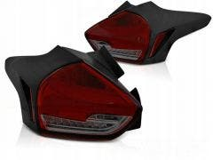 Ford Focus 3 LED achterlicht units, dynamisch knipperlicht Red Smoke