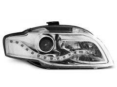 Audi A4 B7 04-08 Chrome DRL LED koplamp units