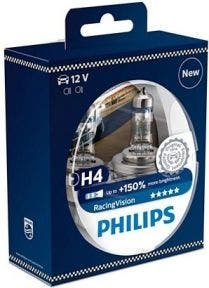 Philips RacingVision 150% H4 Set 12342RVS2 2e Kans
