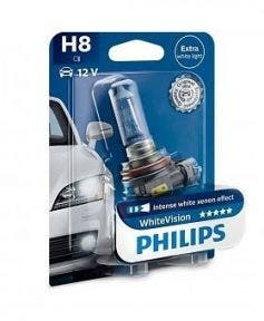 Philips WhiteVision 3700k blister 1 lamp - H8