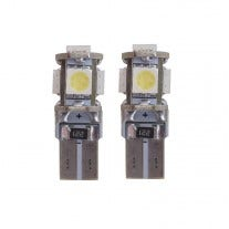 W5W-T10 Canbus LED 5 SMD - Wit / Blauw 8000k