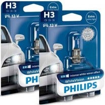 Philips Whitevision set H3 12336WHVB1 - (2 losse blisters) 2e Kans