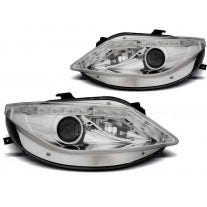 LED tube koplamp unit, geschikt voor Seat Ibiza 6J 06-08 tot 2012 - Chrome