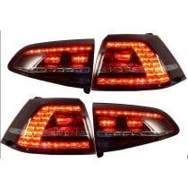 3D LED achterlicht unit VW Golf 7 GTI Red Smoke