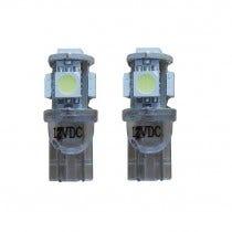 Xenon Look 5 SMD LED stadslicht W5W T10 - oranje