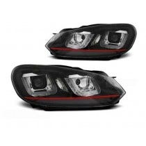 VW Golf 6 U Type Black RED LED Unit