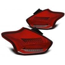LED achterlicht units, geschikt voor Ford Focus 3 2015 Hatchback Red White