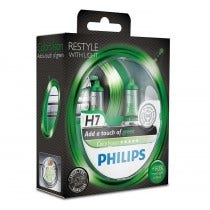Philips 12V ColorVision - Groen - H7
