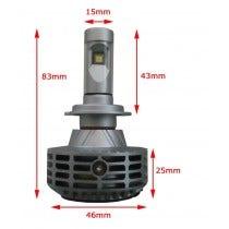 LED dimlicht motor - H7