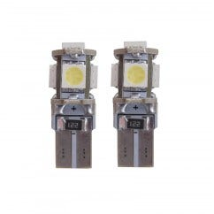 5 SMD CANBUS LED W5W T10 Blauw - 10.000k