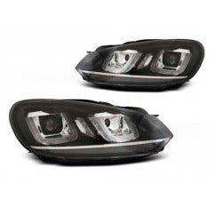 VW Golf 6 U Type Black Chrome LED Unit