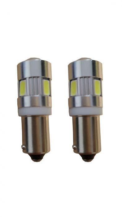 6 HighPower Canbus 2.0 LED stadslicht - BA9s - wit