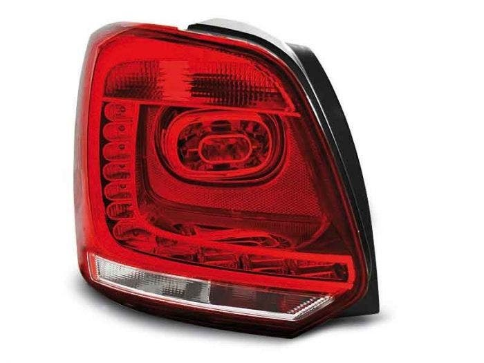 VW POLO 09-13 RED WHITE LED Achterlicht Unit