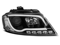 LED koplamp units, geschikt voor Audi A3 8P 2008-2012 Tube Black