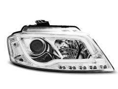 LED koplamp units, geschikt voor Audi A3 8P 2008-2012 Tube Chrome