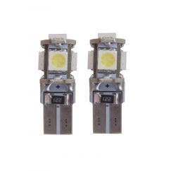 Xenon-Look-5-SMD-LED-W5W-T10-5000k