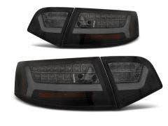 Audi A6 Sedan LED achterlicht units, dynamisch knipperlicht Black Smoke