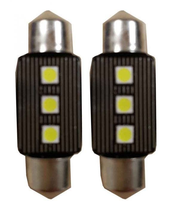 Canbus LED 3SMD C5W Binnenverlichting 6000k Wit