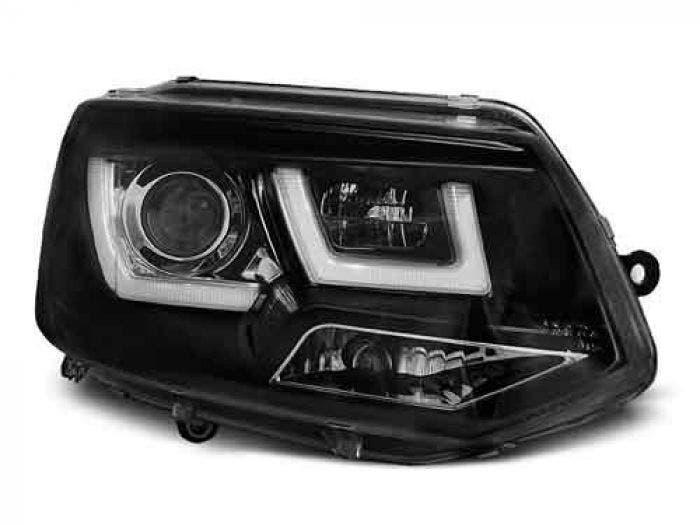 VW T5 U Type Black LED Unit
