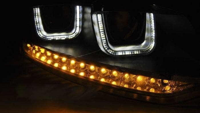 LED-tube-koplamp unit-VW-POLO-6R-chrome