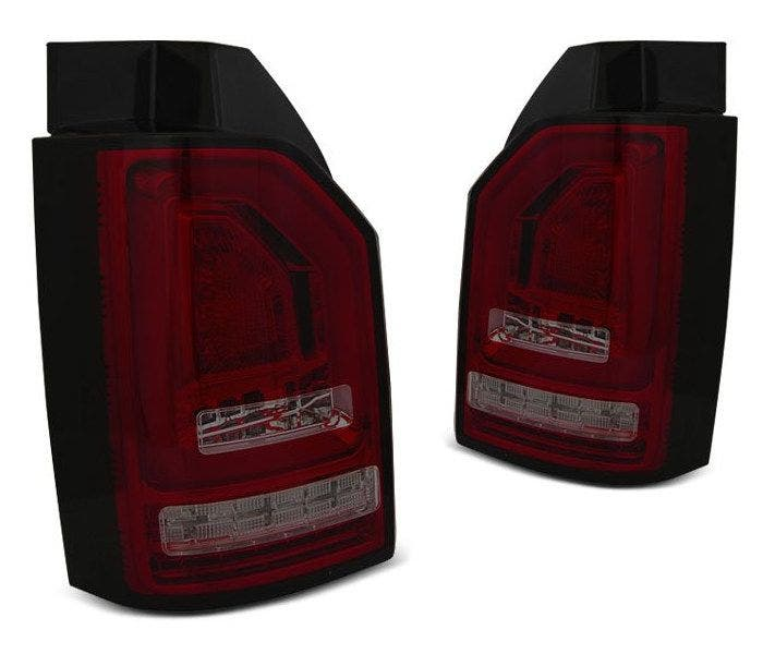 VW T6 LED achterlicht units met dynamisch knipperlicht Red Smoke