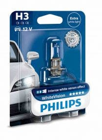 Philips Whitevision blister 1 lamp - H3 12336WHVB1 2e Kans
