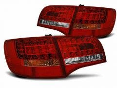 LED achterlicht units, geschikt voor Audi A6 C6 05-08 Avant Red-White LED