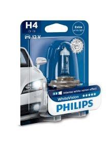 Philips WhiteVision 4300k blister 1 lamp - H4