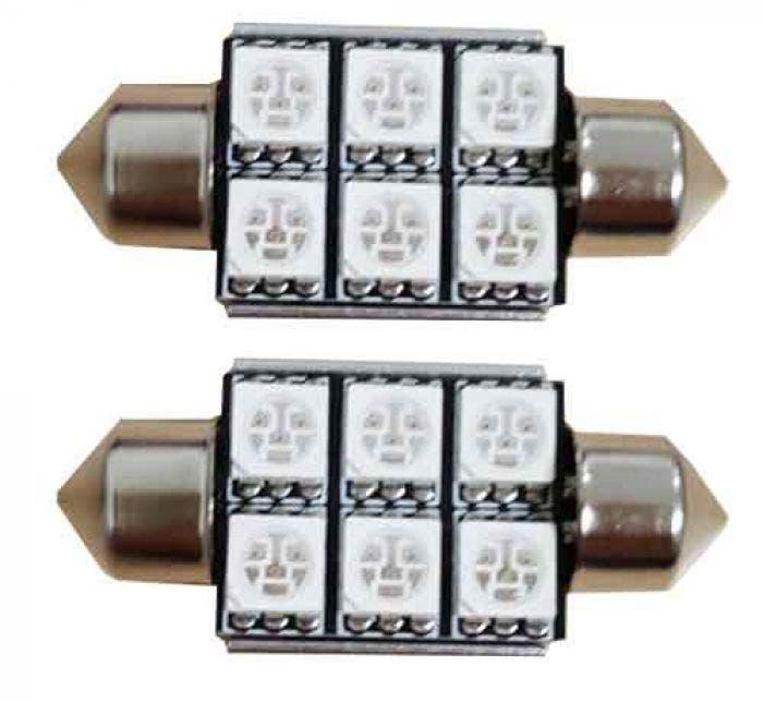 6 SMD C5W Groen 24v Canbus LED