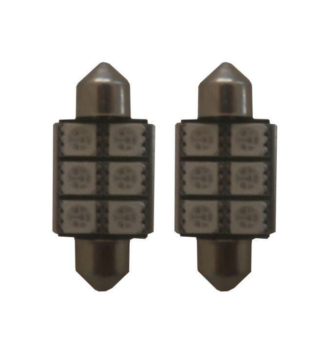 6 SMD LED binnenverlichting 36mm-groen