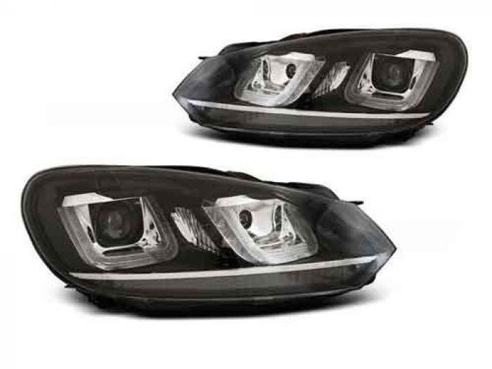 VW Golf 6 U Type Black Chrome LED Unit