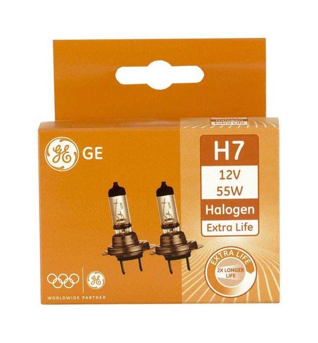 GE Halogeen Extra Life 12volt 55 watt - H7 set